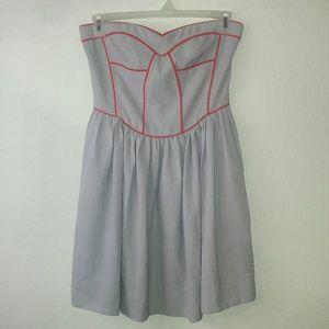 BAR III grey & peach midi dress Sz large